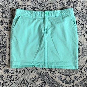 Turquoise chino skirt